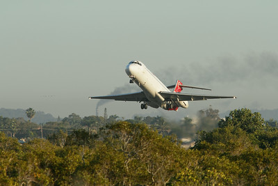 Take-off, shortly after sunrise