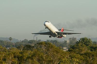 Take-off, shortly after sunrise